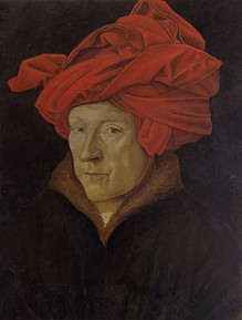 Copy of'Man with a red turban'by Jan Van Eyck, Oil on wood 19x24.5 cm