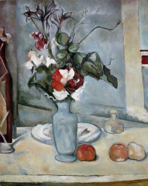 Copy of 'Blue Vase' by Paul Cezanne, oil on canvas 40x50 cm
