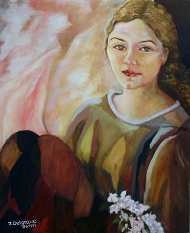 'Silvia' - Oil on canvas, 40x50 cm