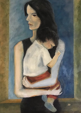 'Sara andDiego' Oil on canvas,30x40cm
