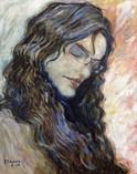'Deborah' - Oil on canvas, portrait from foto,40x50 cm