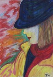 'Edith' - Tempera, 35x50 cm