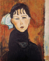 Copy of'Le petite Marie' by A. Modigliani, oil on canvas40x50 cm