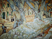 Copy of 'The large plane trees' by Vincent Van Gogh, oil on canvas,40x50 cm.