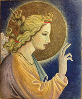Copy of 'Arcangelo' Egg tempera and gold leaf on wood, 25 x 30 cm