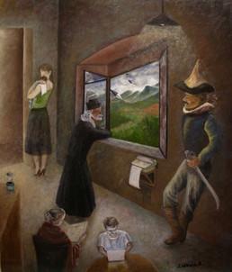 'Generations' -Oil on wood, 55.4x48 cm