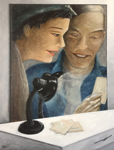 'The foto'-Oil on wood44,6 x 59 cm