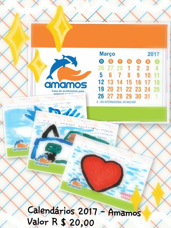 Chegaram os calendários 2017 da Amamos!