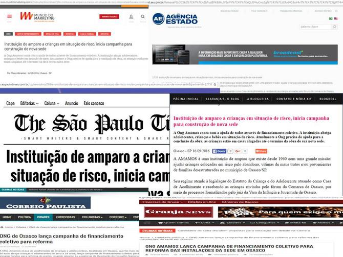 Campanha da Amamos repercute mais 30 veículos de comunicação :D
