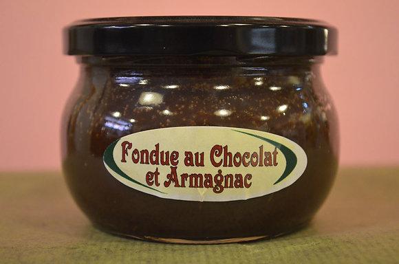 Fondue au chocolat et armagnae