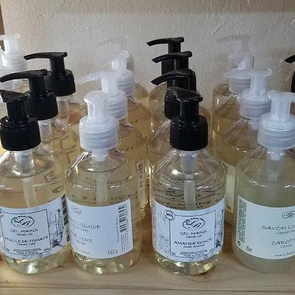 Liquid soaps, Hands gel