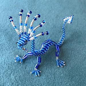 Little blue & silver dragon