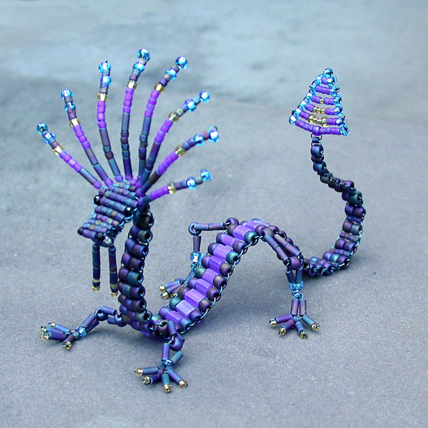Blue & purple dragon