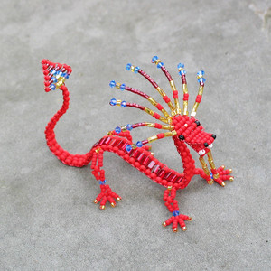 Red and gold dragon
