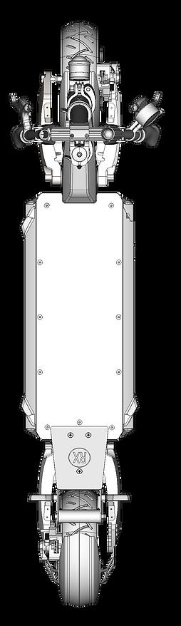 Dessin 3D de la trottinette électrique SPEEDTROTT RX2000