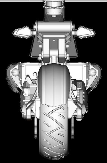 Dessin 3D de la trottinette électrique SPEEDTROTT RX1000
