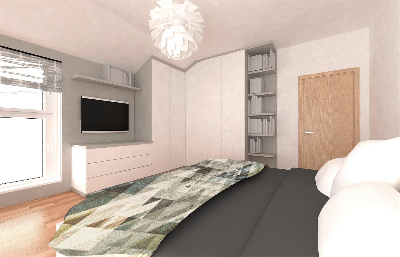 Ložnice a obývací pokoj