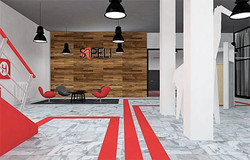 Vestibul továrny Sapeli