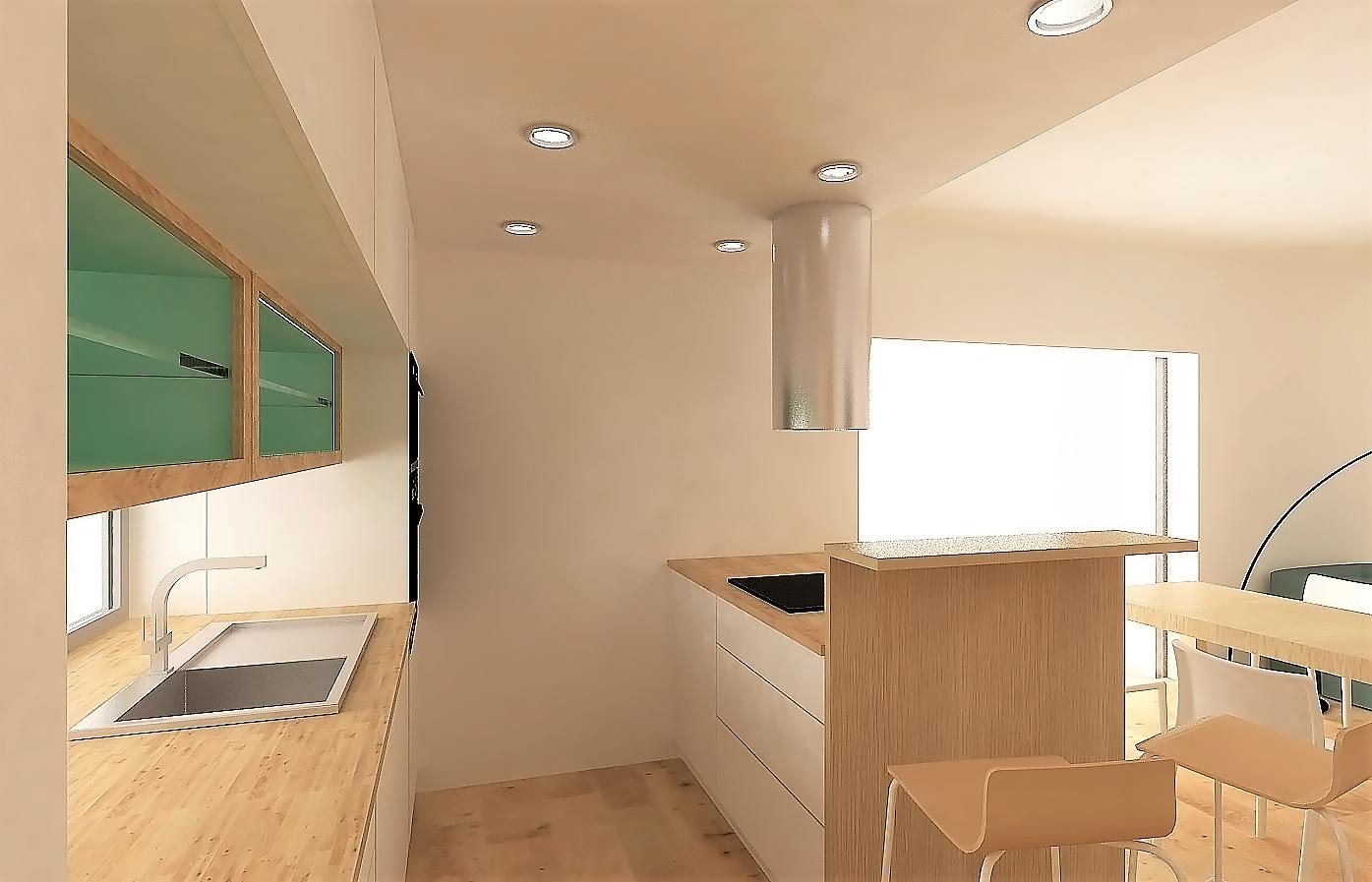 Kuchyně a koupelna