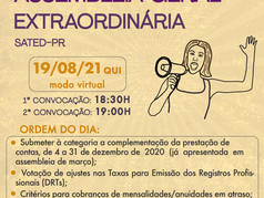 Assembleia Geral nesta quinta dia 19/08/21