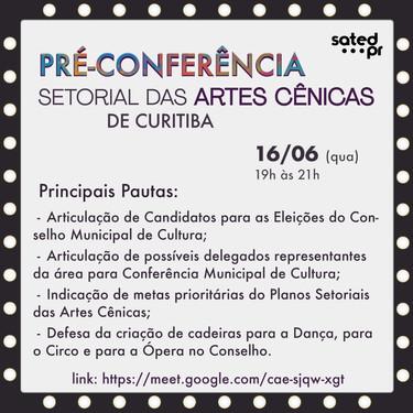 Pré-conferência Setorial das Artes Cênicas