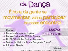 Coordenadoria de Dança do SATED PR promove bate-papo nesta segunda-feira dia 12