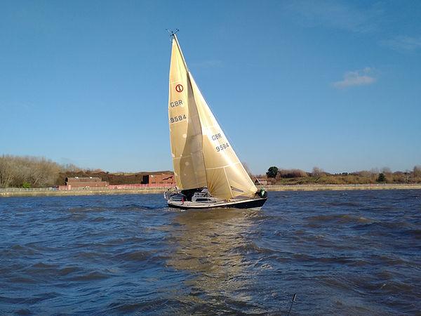 Sailing at Liverpool Marina