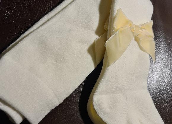 Cream fleece lined tights