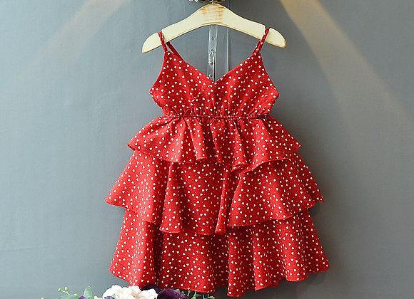 Red Heart Ruffle Dress