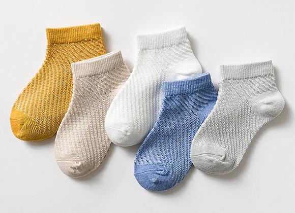 Boys Plain Mesh Socks