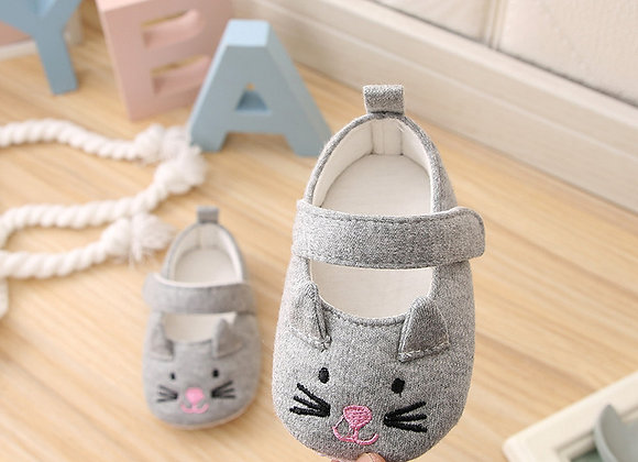 Grey Mouse First Walker Shoes