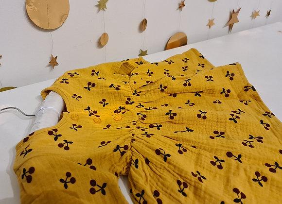 Mustard cherry dress