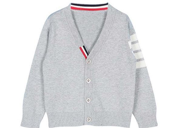 Grey Strip Cardigan