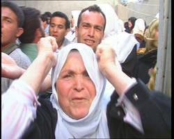 palestinian woman crying