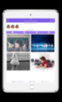 Interface da Galeria de Imagens dos Pais
