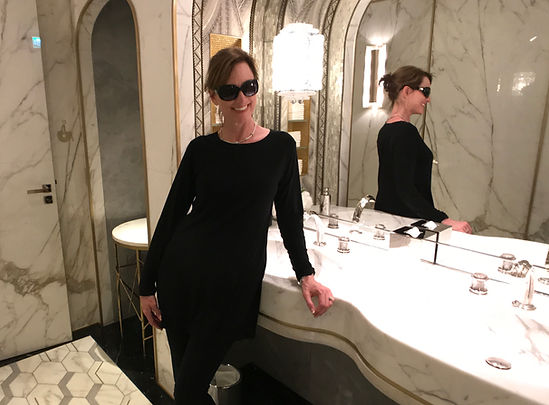 Fawn in Paris bathroom.JPG