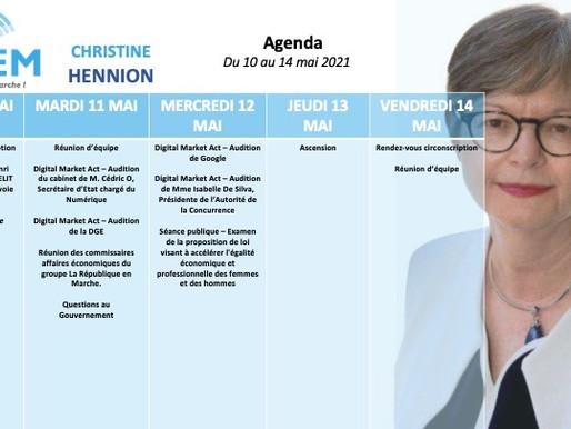 Mon agenda du 10 au 14 mai
