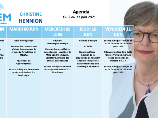 Mon agenda du 7 au 11 juin