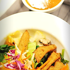 54. Plant-based meat with peanut sauce