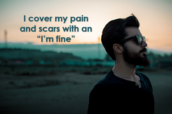 Hiding your pain and scars