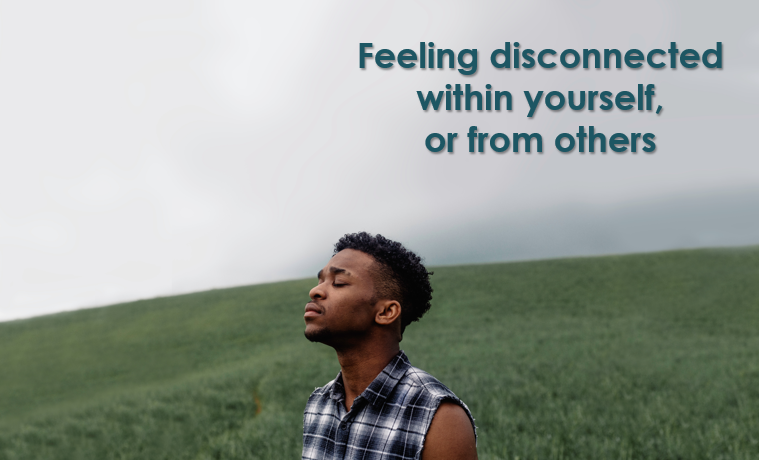 Feeling apart from self and others