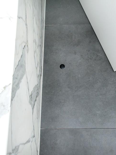 Installed in bathroom tiles