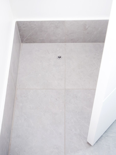 Installed in bathroom tiles