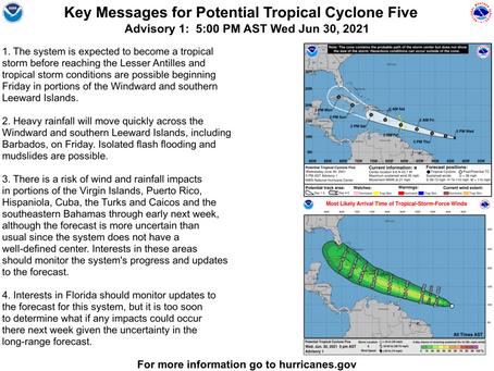 Potential Tropical Cyclone Five Briefing June 30, 2021