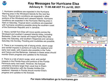 Tropical Storm Elsa Briefing #3 July 2, 2021