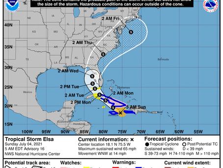 Tropical Storm Elsa Briefing #5 July 4, 2021