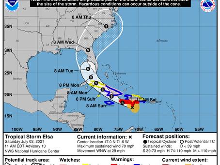 Tropical Storm Elsa Briefing #4 July 3, 2021