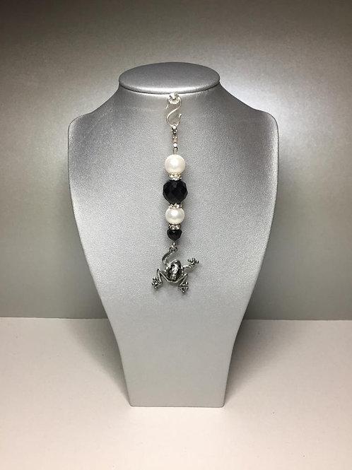 Anhänger für lange Ketten oder Taschen aus Imit.Perlen Glas und Metall