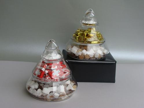 Glaspyramide gefüllt, ohne Vepackung