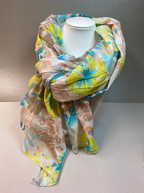 Sommerlicher Schal aus 100% Baumwolle